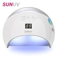 SUNUV SUN6 Smart Lamp Nail New Version LED Nail Dryer Metal Bottom LCD Timer Multicolors For