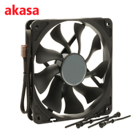 Akasa 12CM CPU Cooler Cooling Fan 4Pin PWM Cooling Fans 12V S FLOW Fan Heat Sink
