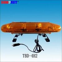 TBD-4H2  Rotator Lightbar Mini  0.6 M Comprimento Da lâmpada Halógena Rotator Lightbar  DC12/24 V luzes De Advertência Âmbar caminhão  instale Magnética