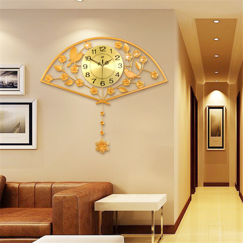 JJT modern pendulum clock minimalist creative living room wall clocks quiet  bedroom fanning watch 67 74cm. Quiet Wall Fan Reviews   Online Shopping Quiet Wall Fan Reviews on