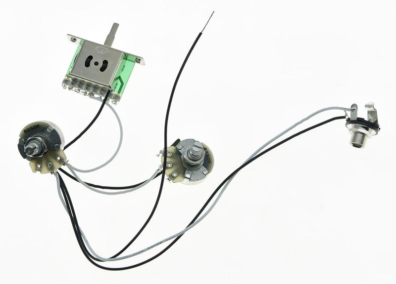 KAISH Guitar Prewired Wiring Harness Alpha 250K 24mm Pots