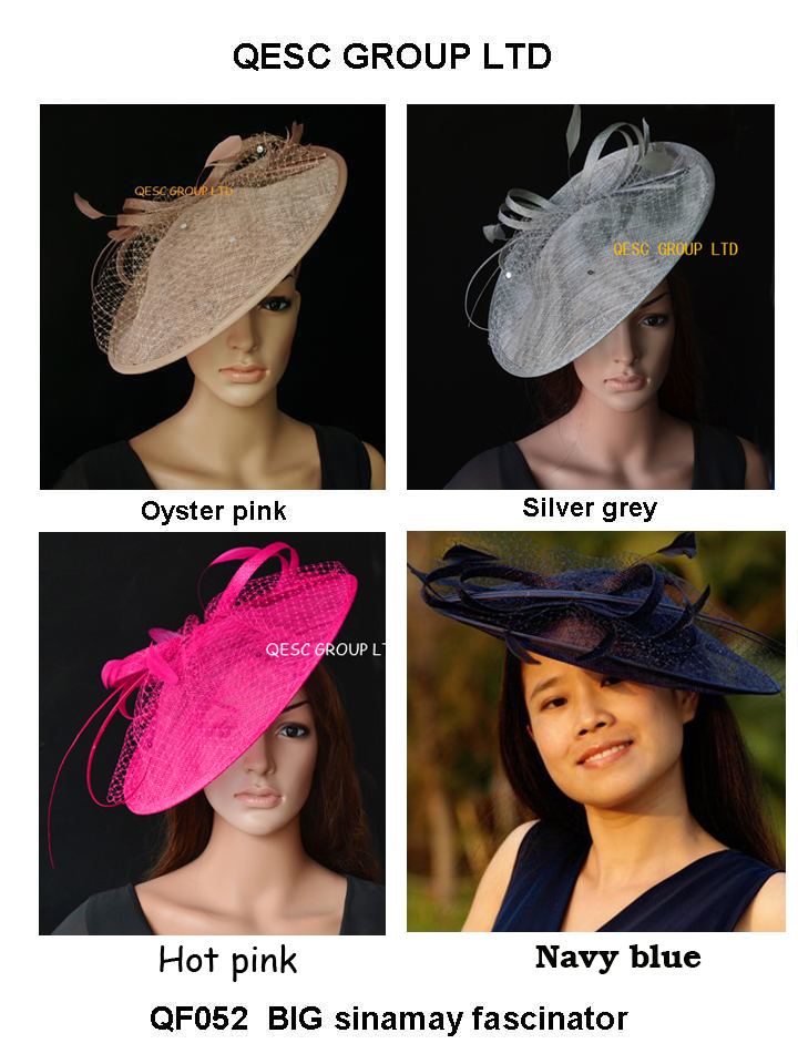04b765b6d7903 NEW Large Sinamay Fascinator Hat with feathers