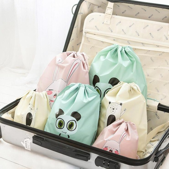 Cartoon Draw Pocket Travel Accessories Drawstring Bag Business Trip Storage Bag For Cloth And Shoe Functional Bag Box 2