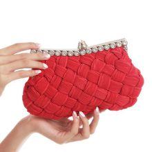 Frauen abendtasche partei handtaschen geflochtene design strass einbau bankett crossbody handtasche weibliche tag kupplungen heißer verkauf 2016