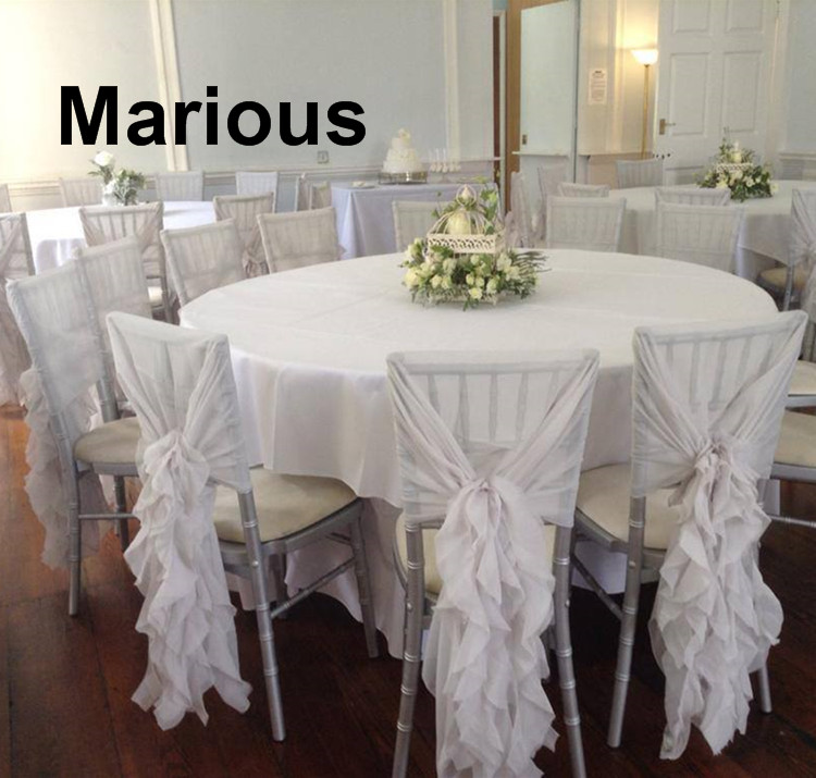 Free Shipping 50pcs Chiffon White and Pink Chair Hood for Wedding Theme Party Chair Sash Chair Bow More Colors Available