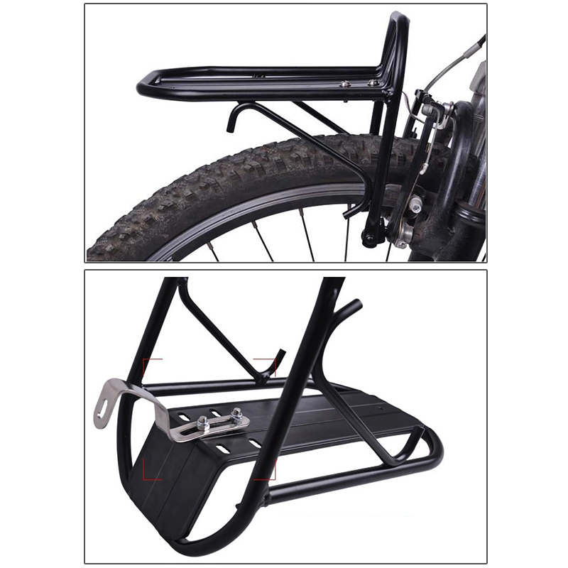 Aluminum Alloy Bike Bicycle Front Rack Luggage Shelf Panniers Bracket Black