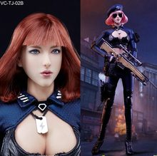 1/6 scale Super flexible figure 12″ action figure doll Collectible Model plastic toy wefire Sexy female Sniper Red or Pink hair