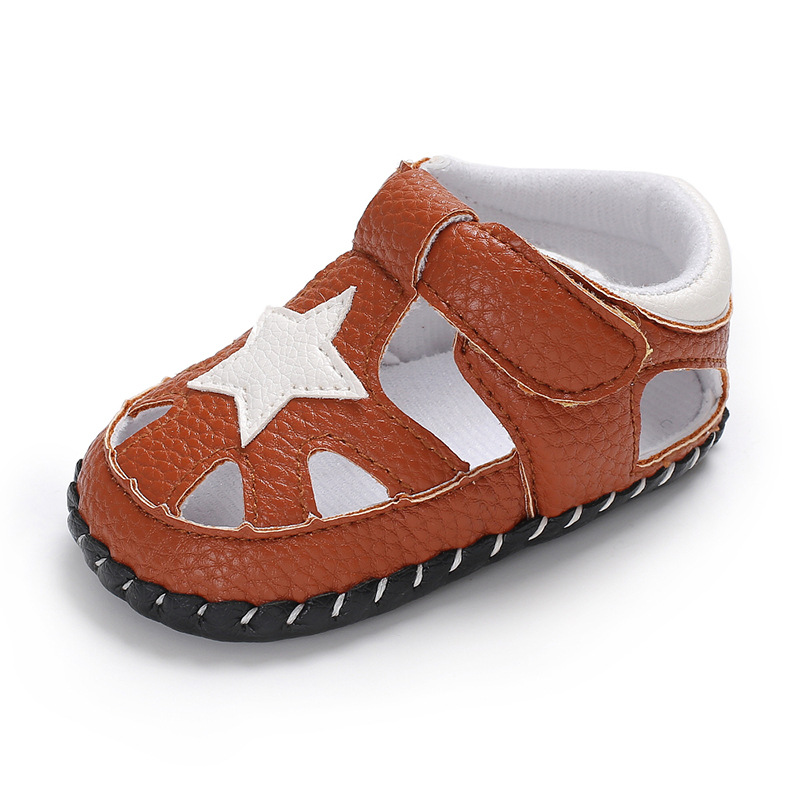 2018 Summer Baby boys sandals soft anti-skid bottom kids baby sandals Breathable PU star design children sandals shoes ...