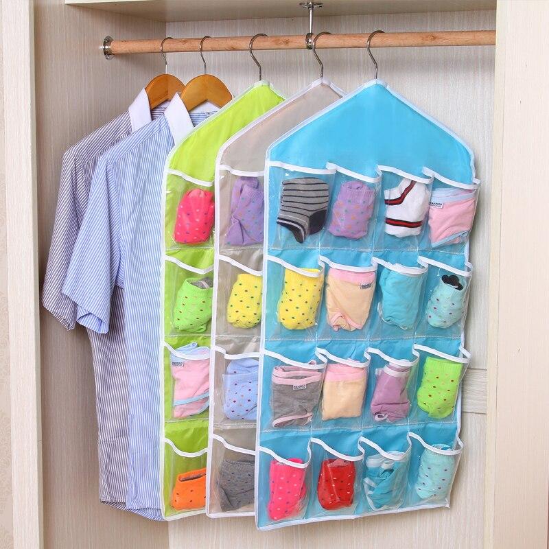 1ks 16 a 10 malá taška závěsné organizéry šatní skříň transparentní šatní skříň skladování závěsné spodní prádlo podprsenka pytel závěs