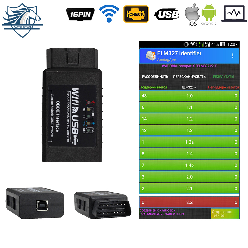 Code Readers & Scan Tools Beautiful Elm327 Wifi Usb Supports Ios/android/windows Obd2 J1850 Real V2.1 Ftdi Rs232+pic18f25k80 Scanner Code Reader Car Diagnostic By Scientific Process Back To Search Resultsautomobiles & Motorcycles