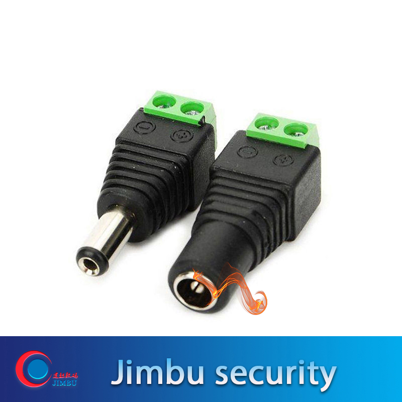100 Pairs DC Power Male And Female Jack Adapter Plug Free Welding DC Male Female Head For CCTV Camera DVR Free Shipping