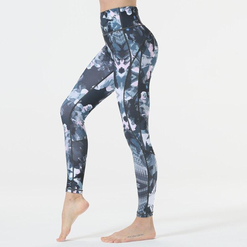 fbdd0b408b339 Womens Yoga Pants Fitness Leggings Sports Pants Workout Elastic Printing Pants  Running Sweatpants Gym Sportswear