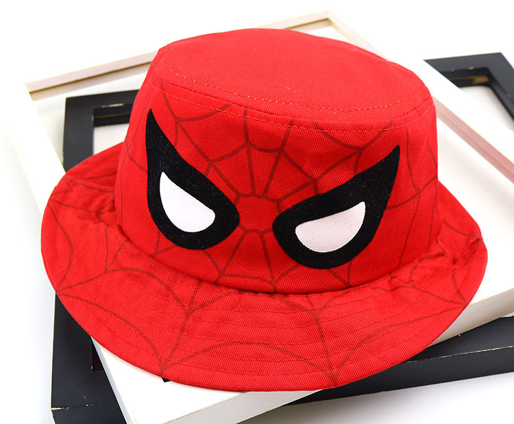 7b3c7276fe0a0 Detail Feedback Questions about Cotton Cartoon spider Bucket Hat Fisherman  Hat outdoor travel hat Sun Cap Hats for children boys and girls 51 on ...