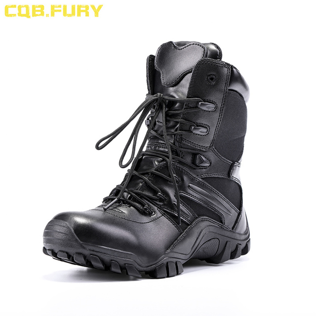 CQB. FURY Mens Nieuwe Mode Super licht Militaire Laarzen Zwart Tactische Wearable Rits Boot Combat enkel ademend Boot size38-46