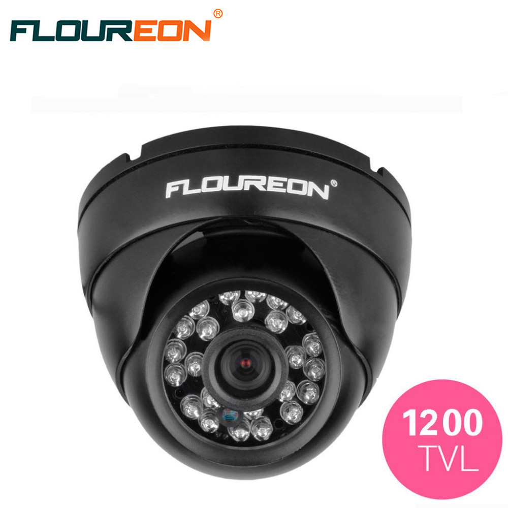 FLOUREON 1200TVL NTSC Vandalproof Security Dome Camera Outdoor Weatherproof Night Vision CCTV DVR Security Camera 30g grey thermal grease paste compound silicone for computer desktop cpu heat sink