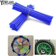 72Pcs Wheel RIM Spoke Skins Sticker Accessories Dirt Bike For YAMAHA TRICKER DT TW PW RT 50 80 85 90 100 125 225 230 250 426