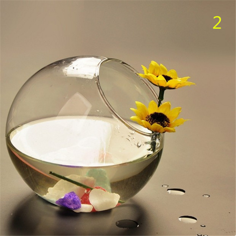 15 см прозрачная стеклянная ваза стеклянный Декор Цветок гидропонная ваза круглый Декор для дома свадьбы
