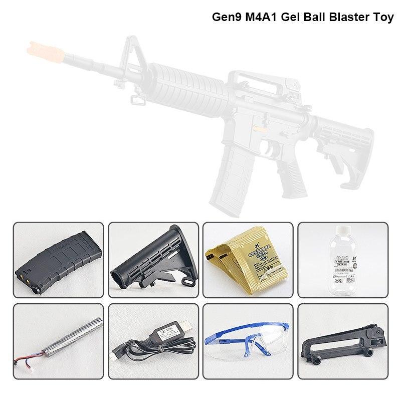 ZhenDuo Jouets Jinming Gen9 M4A1 Électrique Gel Boule Blaster balle en eau Pistolet Mag-alimenté jouet d'extérieur Pour Enfant - 2