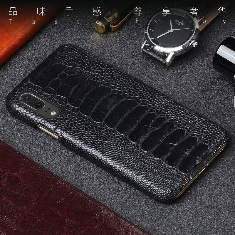Funda de teléfono para Huawei P20 P30 Lite Mate 10 20 lite Pro Y6 Y9 P Pie de avestruz 2019 Real caso de Honor 7X 7A 8X9 10 lite - 4
