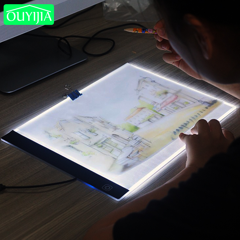 A4 Three Level Dimmable Led Light Pad Tablet Tools Diamond Painting Accessories Diamond Embroidery Eye Protection A5 Size Diamond Painting Cross Stitch     - title=
