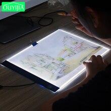 OUYIJIA 3 Seviye Dim led ışık Ped, Tablet, Araçları, Elmas Nakış, aksesuarları için Elmas Boyama Göz Koruma A4 Boyutu