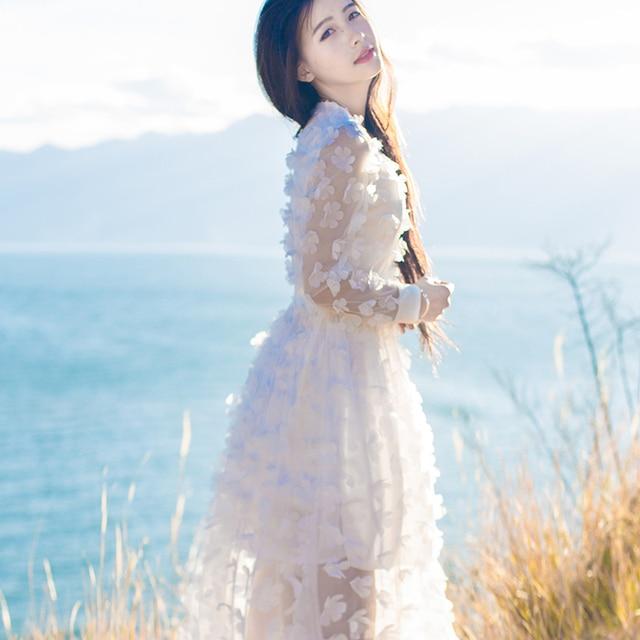 Cute black and white korean dress
