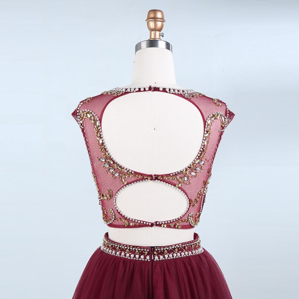 BeryLove Two Piece Skooped Short Homecoming Dresses Beading Pearls - Ерекше жағдай киімдері - фото 6