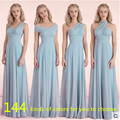 New Arrival Bridesmaid Dresses Chiffon Fall Winter Bridesmaid Dress Cheap Prom Vestido De Festa De Casamento Long-Party-Dress
