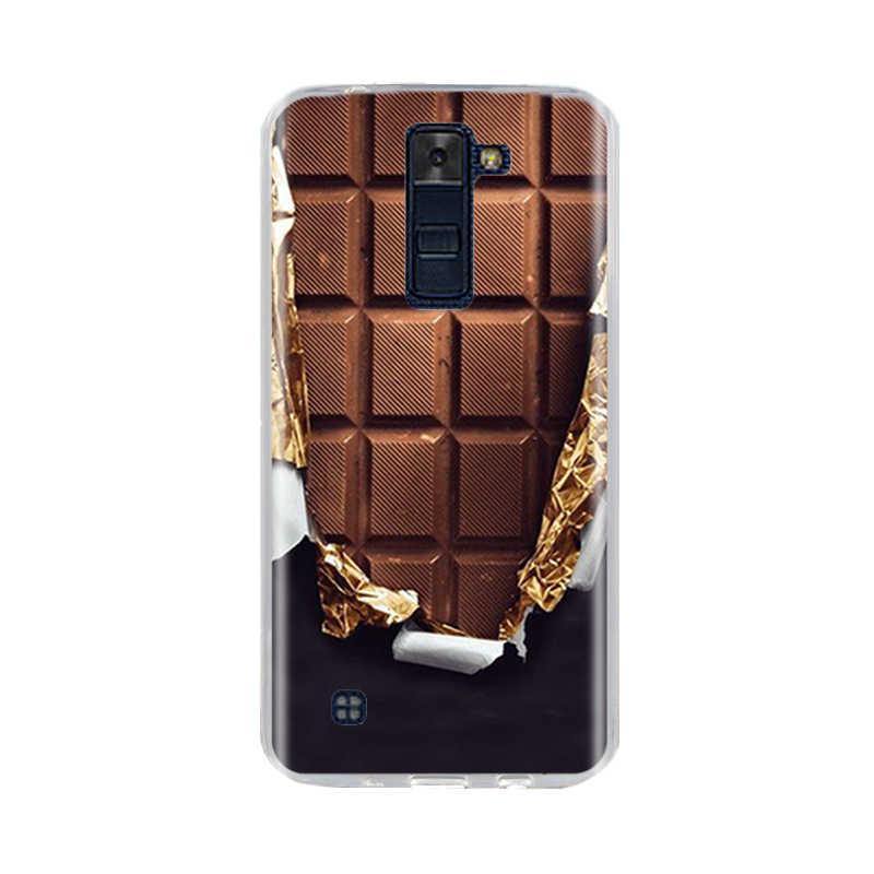 Untuk LG K7 K8 LTE Case Kembali Cover Silikon Lembut TPU Fundas Coque untuk Lg K7 K8 Telepon 3D hewan Lucu untuk LG K10 2016 2017 Tas