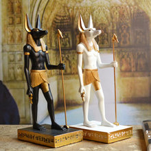 Egypt Anubis The Dog God Resin Home Ornament Geomantic Water  Arts Crafts Decoration Family Patron Friends Relatives Gifts