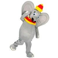 Dumbo mascot costume grey elephant mascot cosutme fancy dress for Halloween party