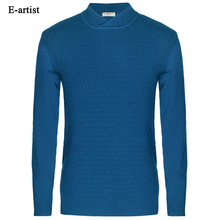 Mens Wool Knitted Sweater Autumn Winter High V-neck Kintwear Pullover Male Jumper Plus Size 5XL M04