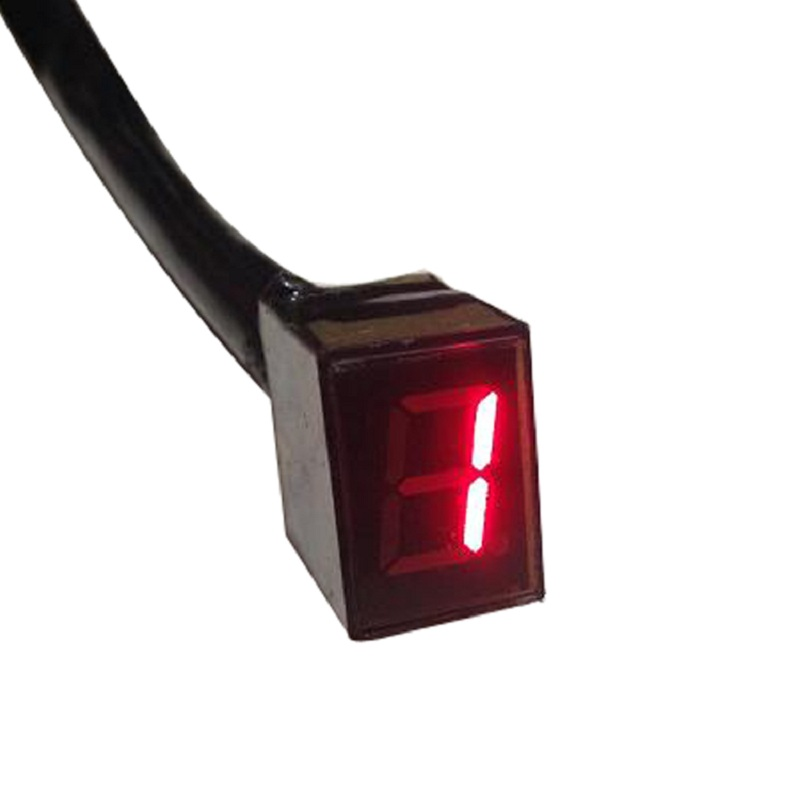 Red LED Universal Digital Gear Indicator Motorcycle Display Shift Lever Sensor  5 Gears wholesale-in Instruments from Automobiles & Motorcycles