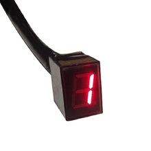 Universal Red LED Digital Gear Indicator Motorcycle Display Shift Lever Sensor 5 Gears wholesale Gear Shift Indicator