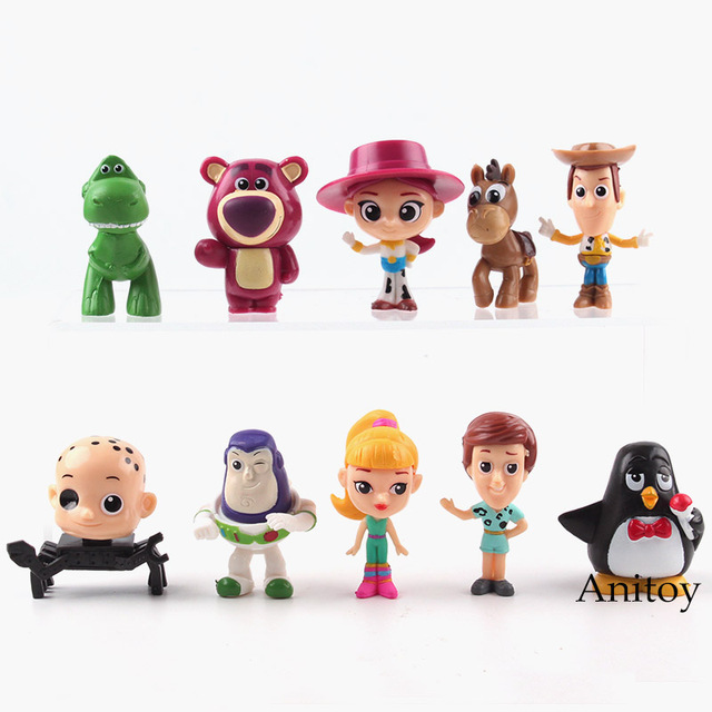 Cartoon Toy Story Woody Buzz Lightyear Jessie Rex Bullseye Lotso Pvc