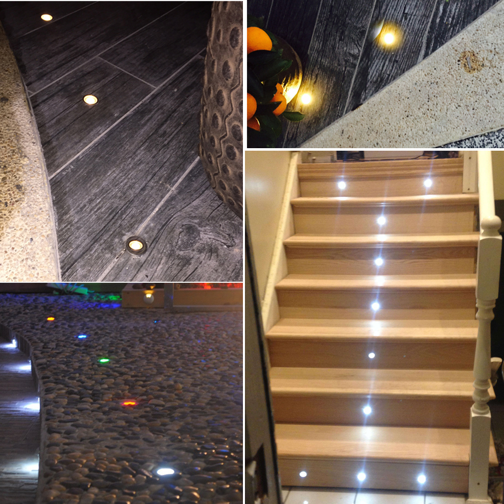 50pcs/Lots **DHL FREE** Led Underground Light for Garden/Park/Building Recessed Carpet /Ceramic Tiles/ Natural Stone