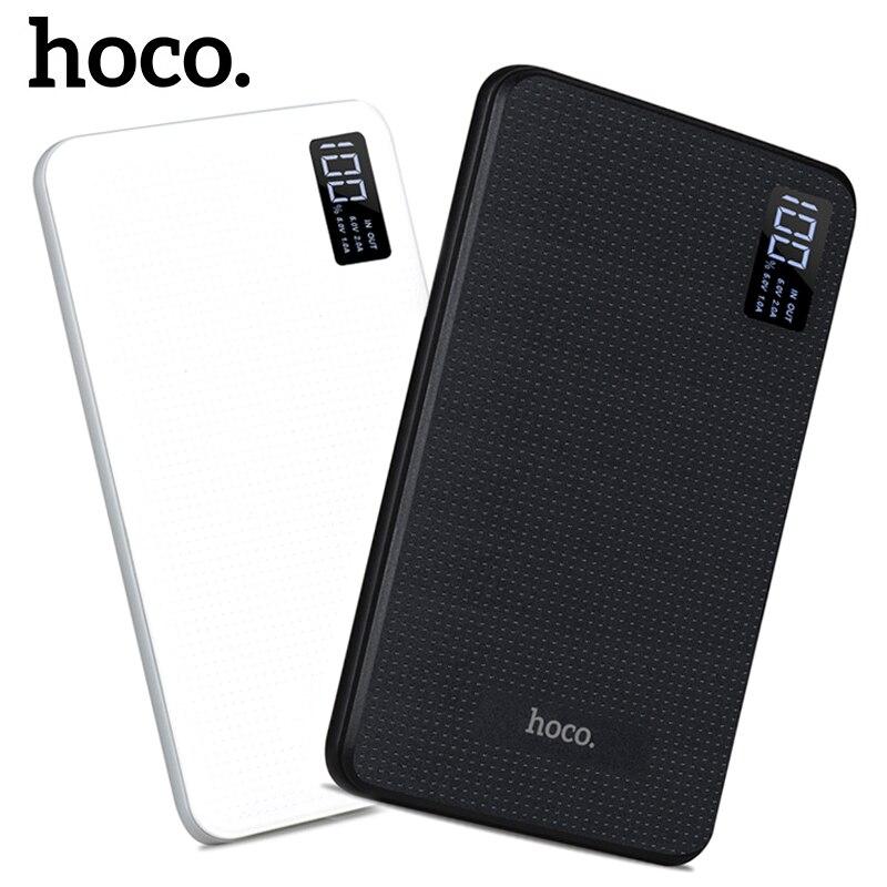 imágenes para B24 30000 mAh Power Bank Cargador Portátil Con Pantalla de HOCO Triple USB Teléfono Móvil Batería Externa Para el iphone Xiaomi Powerbank
