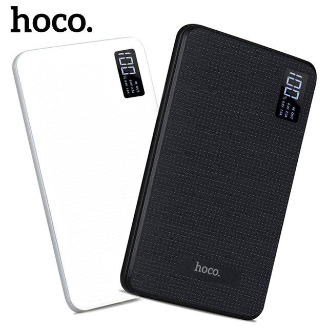 НОСО B24 30000 мАч Мощность банк Портативный Зарядное устройство с Дисплей Трехместный USB мобильного телефона внешний Батарея для IPhone Xiaomi Мощность Банк