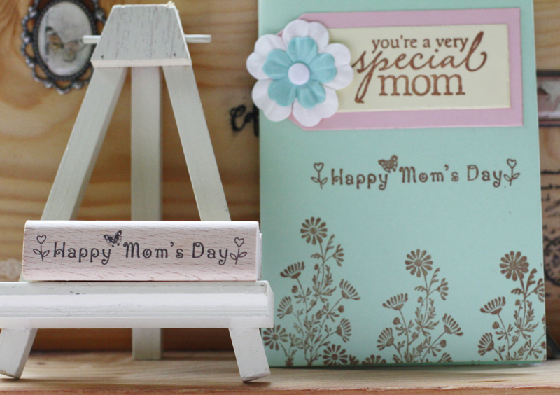 High quality happy mom's day 8*2cm carimbo for wooden scrapbooking rubber stamps carimbo For card diy stempel