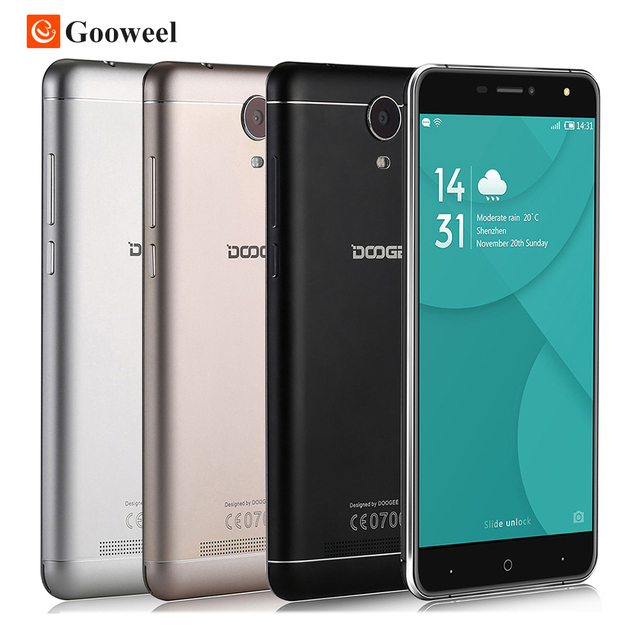 Doogee X7 Pro 4G SmartPhone 6.0 Inch HD ips MTK6737 Quad Core Android 6.0 2GB RAM 16GB ROM 8MP Metal Frame 3700mAh mobile phone