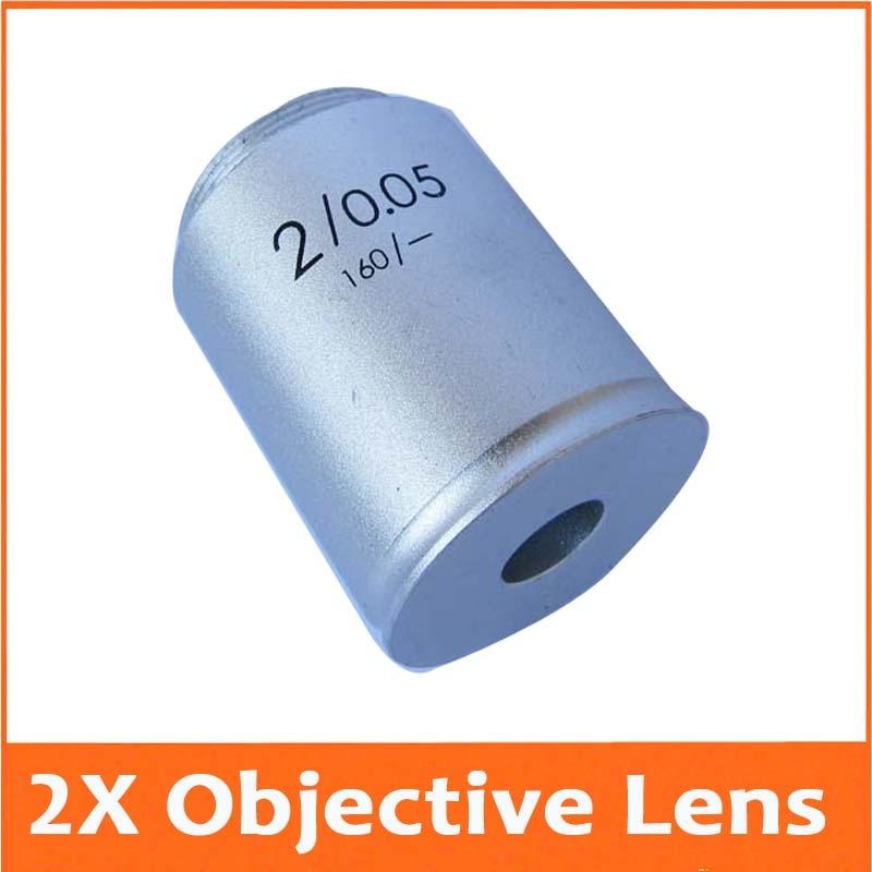 2x 195 Biological Microscope Objective Lens Achromatic Objective Lens Microscope part Free Shipping  цены