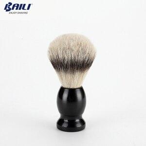 Image 5 - Baili atualizar molhado escova de barbear lâmina de segurança navalha barbeador lidar com barbeiro manual barba cuidados com os cabelos + caso viagem bd176