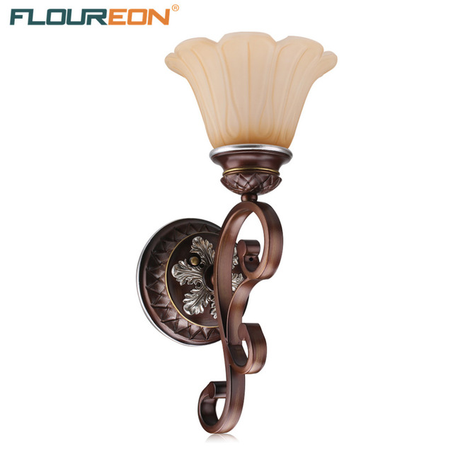 Floureon 1 Light Antique Wall Mounted Retro European Lamp Oil Paint