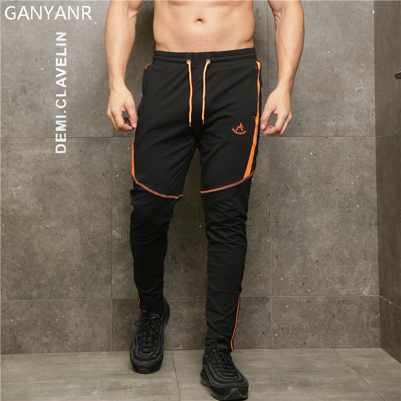 GANYANR Running Pants Men Sports Leggings Jogging Basketball quick dry Training Gym Fitness Football Sweatpants Elastic Workout in Running Pants from Sports Entertainment