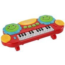 Elektronische Baby Kinder Musikinstrument Spielzeug Batterie Orgel-tastatur Hand Schlagen Farben: Gelb