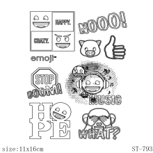 AZSG Expression collection  Clear Stamps/Seals For DIY Scrapbooking/Card Making/Album Decorative Silicone Stamp Crafts