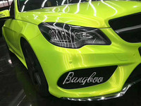 1.52x18m High Quality High Glossy Auto Magic Lemon Green Vinyl Wrap For Car