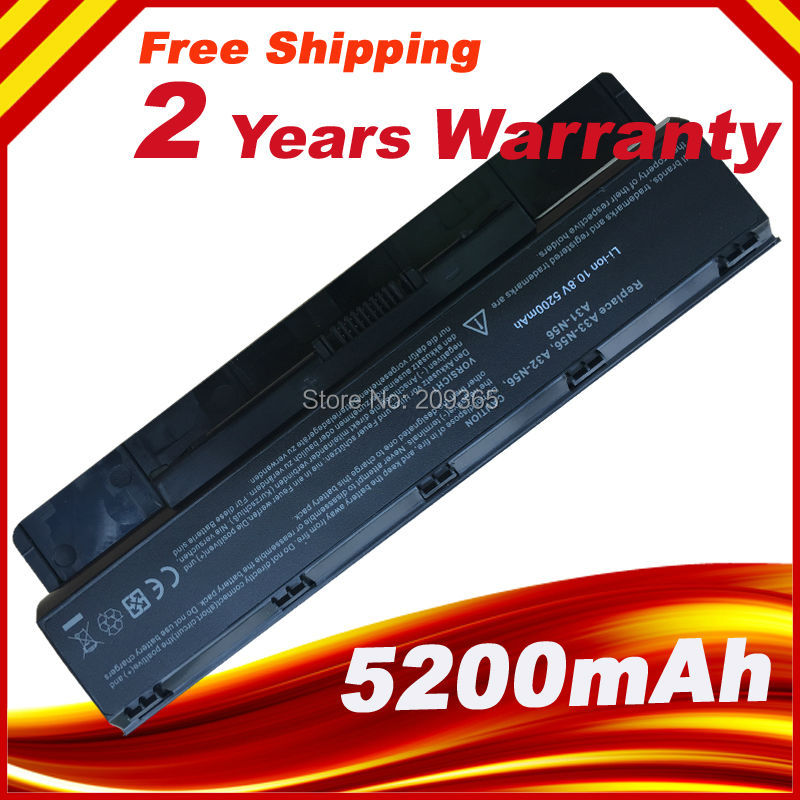 Laptop Battery A31-N56 For ASUS A32-N56 A33-N56 N46 N76 N56 N46V Batteries N56V B53V B53A F45A F45U N76V R500N N56D Battery