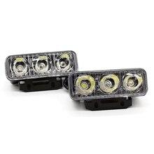 Yituancar 2X3 LEDs 9W Universal Daytime Running Light Source Styling Waterproof Aluminum DC12V White Work Lighting With Lens