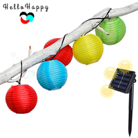 Solar Lantern Festival Fairy Lights Chains 20Balls Outdoor Courtyard Garden Decoration Waterproof Star Decor String Lamparas